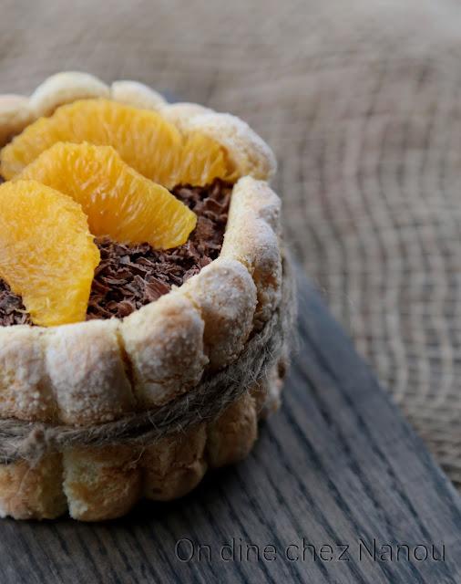 mousse chocolat , croustillant praliné, biscuits cuillère maison , dessert familial