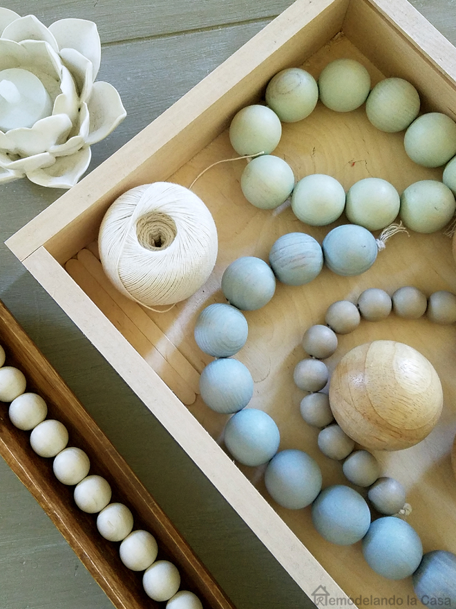 wooden beads vase fillers from Target