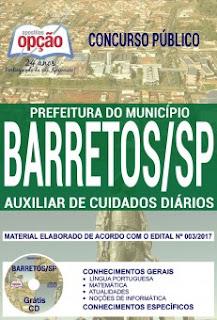Apostila Auxiliar de Cuidados Diários  Prefeitura de Barretos