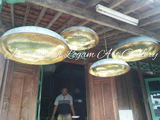 LAMPU GANTUNG MINIMALIS TEMBAGA KUNINGAN