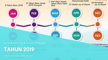 Ini Daftar Lengkap Hari Libur Nasional Dan Cuti Bersama Tahun 2019