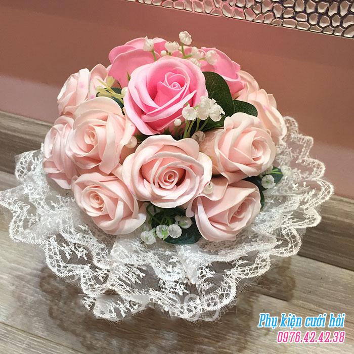 Hoa cam tay co dau HC018