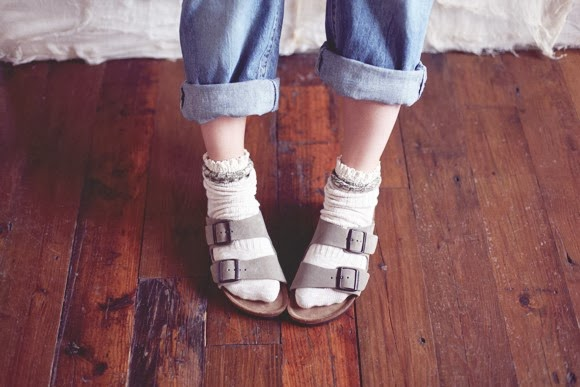 Birkenstocks with socks