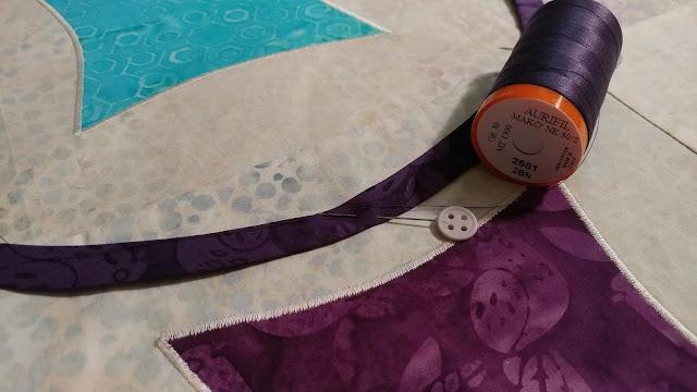 Moonrise quilt by Slice of Pi Quilts using Lavendula fabrics by Island Batik