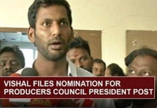 Vishal files Nomination for Producers Council President Post | Thanthi Tv