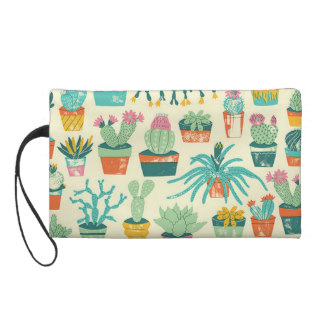 Wristlet Gift for Mother's Day - Cactus Flower Pattern Wristlet