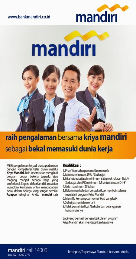 Lowongan Kerja BANK MANDIRI Tangerang mulai Bulan JANUARI ...
