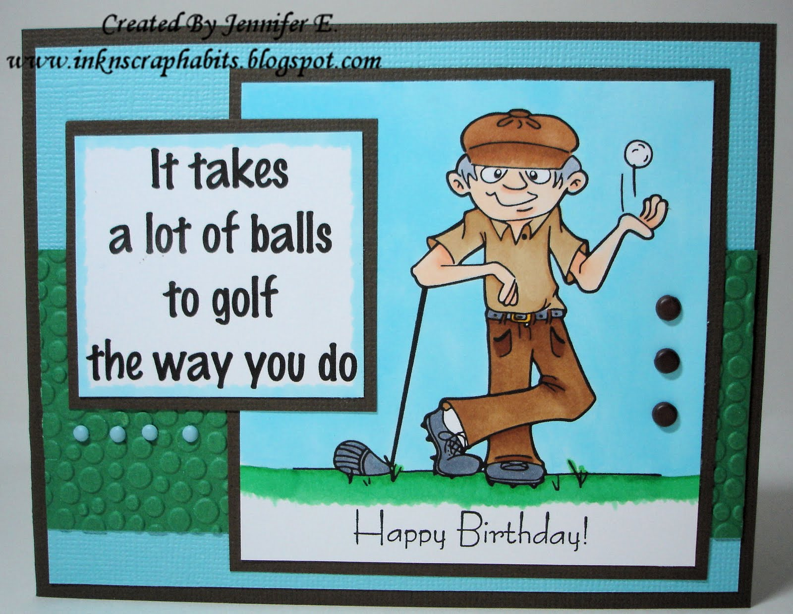Happy Birthday Golf Theme Jpg 1600x1238