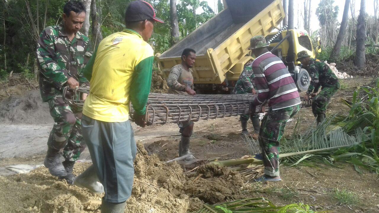 Berkat TMMD ke 104, Desa Lallatang Bakal Miliki Jembatan