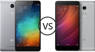 Redmi note 3 vs Redmi note 4 Design