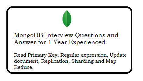 MongoDB Interview Questions and Answer for 1 Year Experienced