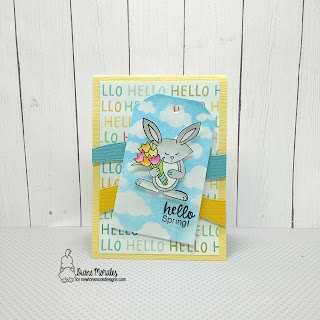 Hello Spring a card by Diane Morales | Hello Spring Stamp Set by Newton's Nook Designs