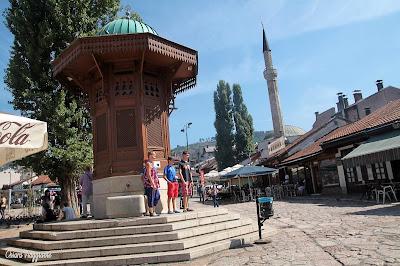 piazza dei piccioni Sarajevo