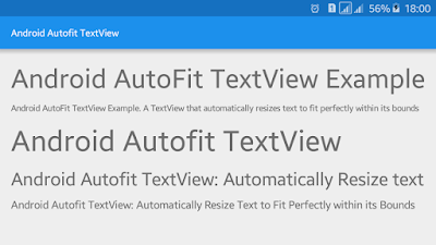 Android Example: How to AutoFit/AutoScale TextView Text to Fit within Bounds