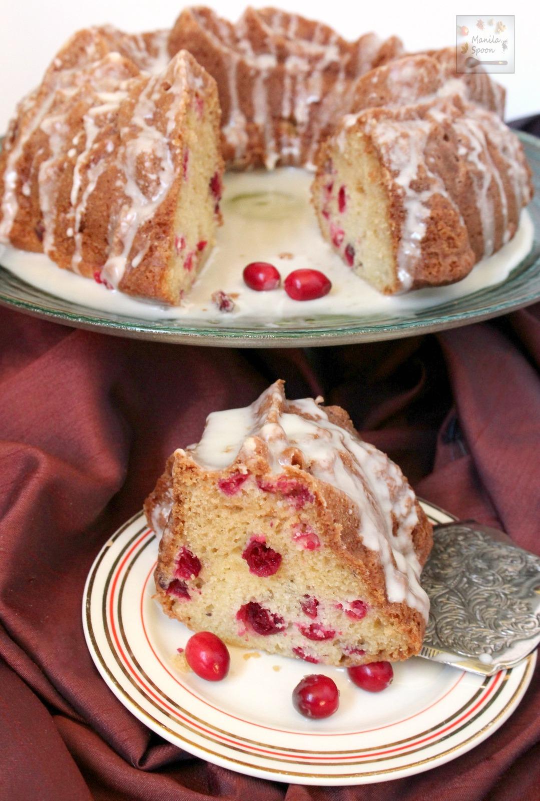 White Chocolate Cranberry Coffee Cake