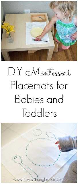 A look at our DIY Montessori placemats for babies and toddlers.