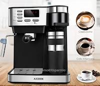 Logo Amazon : Macchina per caffè 3in1 con montalatte e termos : da 299€ a soli € 72! Solo fino al 10 ottobre