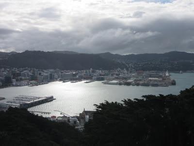 Puerto de Wellington desde el Monte Victoria, Nueva Zelanda