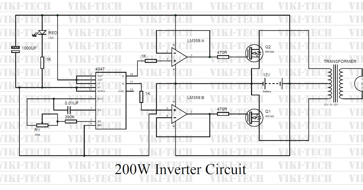 How to make 200 Watt Inverter ~ electronic circuits