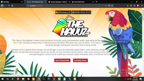 Template Website : The Hauuz Indonesia - Company Profile 2018