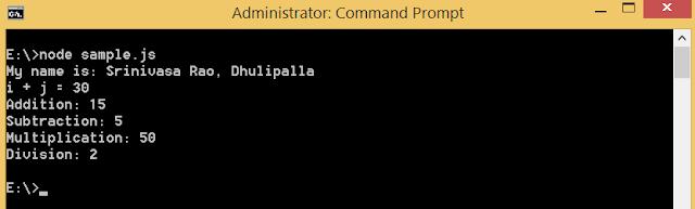 Node.js call module exports