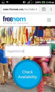 Free custom domain