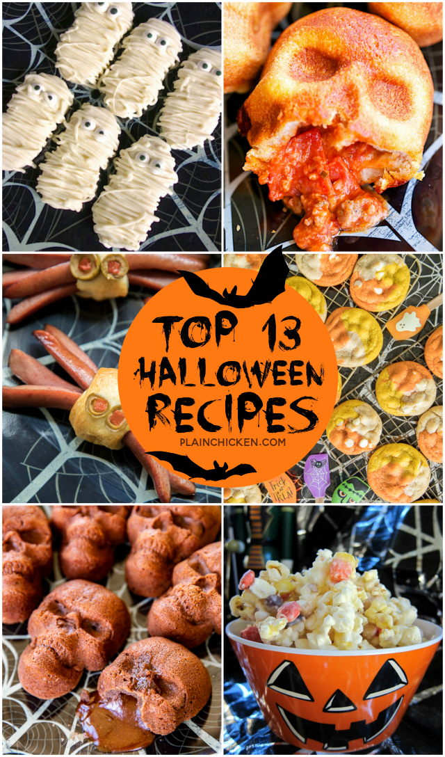 13 of our favorite halloween recipes perfect for all your parties and classroom treats
