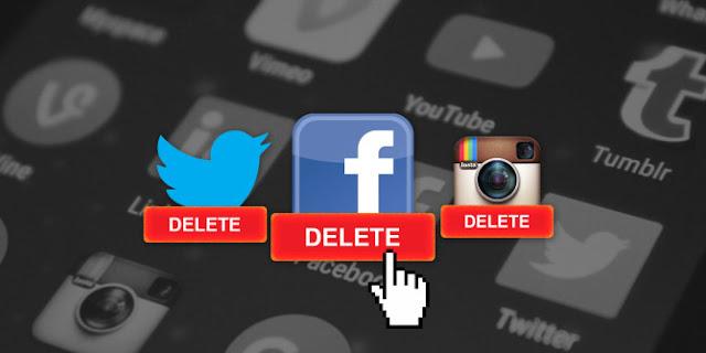 تطبيق لحذف حساباتك على الشبكات الإجتماعية بشكل نهائي من الهاتف