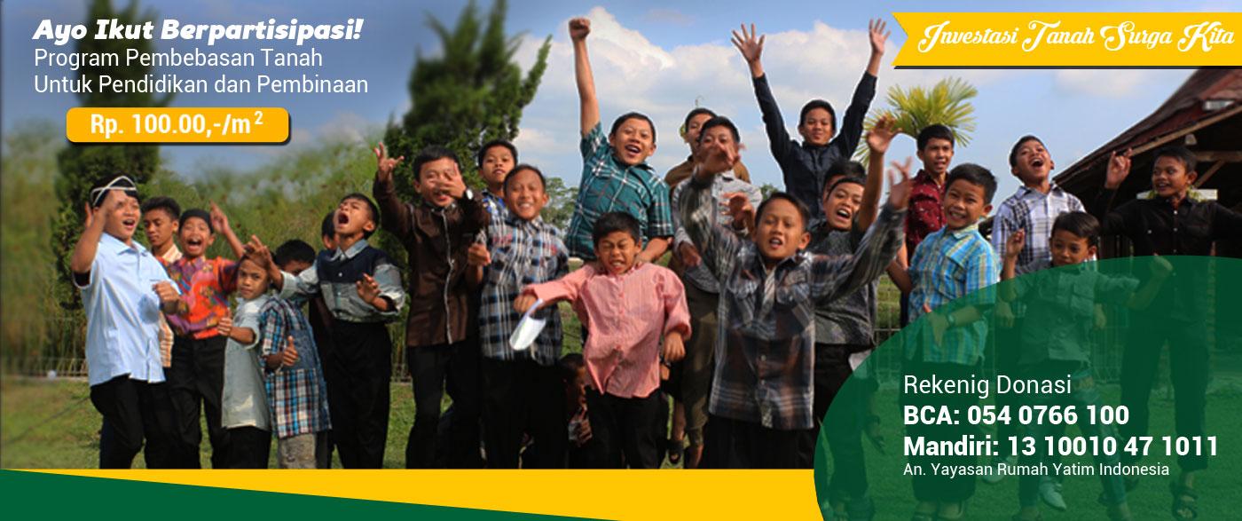 Wakaf Tanah Yayasan Rumah Yatim Indonesia