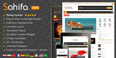 Sahifa Responsive News Blogger templates