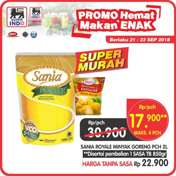 Superindo - Promo Hemat Makan Enak Super Murah Minyak Sania Cuma 17 Ribu 2 L