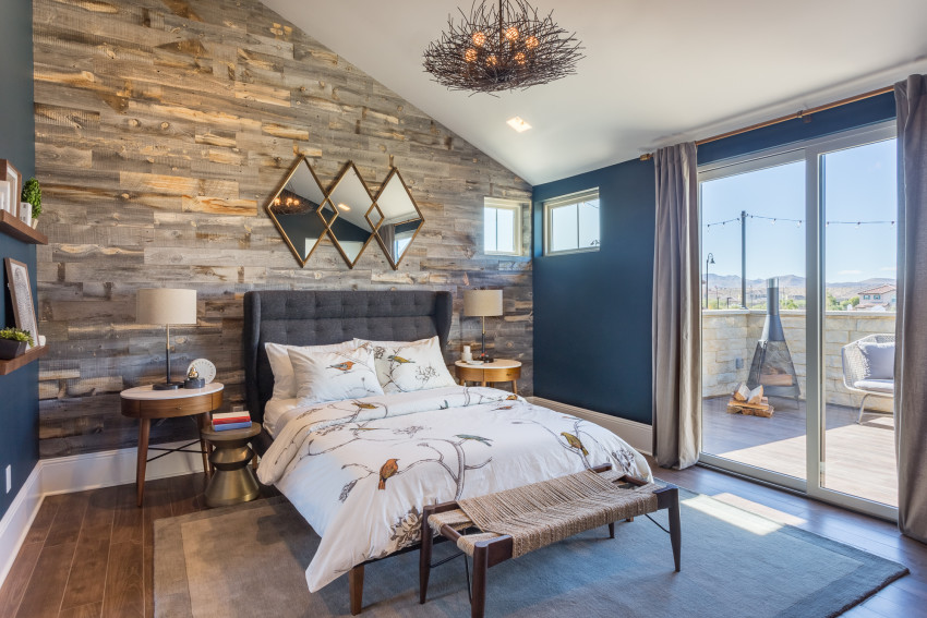 Diy stikwood wood plank statement wall in our bedroom for In design homes