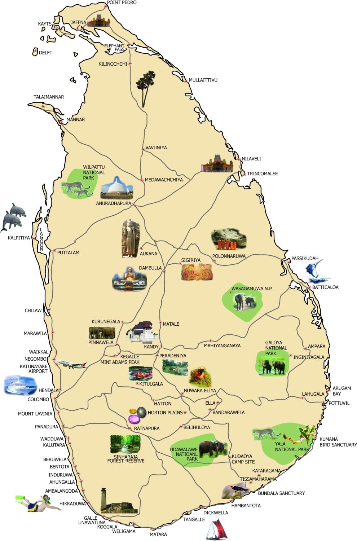 Mapas Geográficos de Sri Lanka