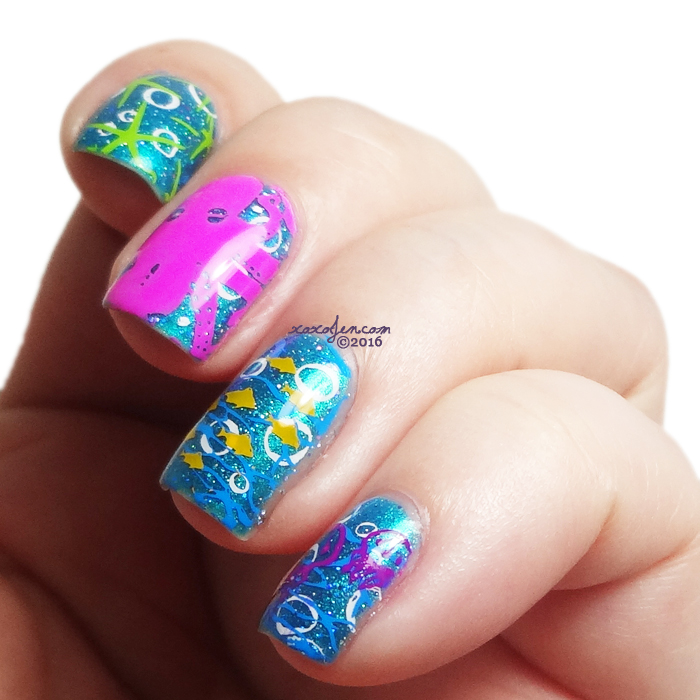xoxoJen's swatch of Oceanic Nail art