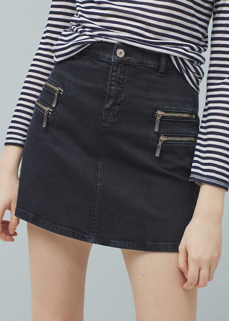Falda Denim Mini Mango