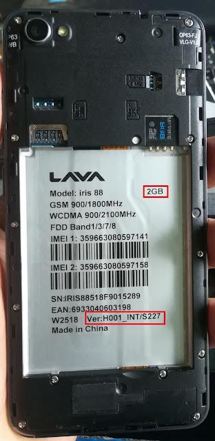 LAVA iris 88 Lcd Fix Dead Fix Firmware Download