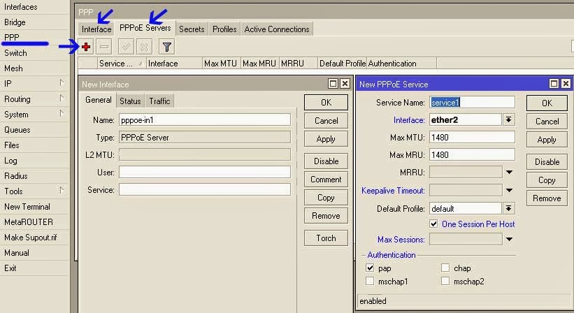 Membuat PPPoE Server Dengan Mikrotik