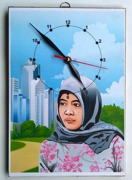 Kartun Vector untuk Jam Dinding