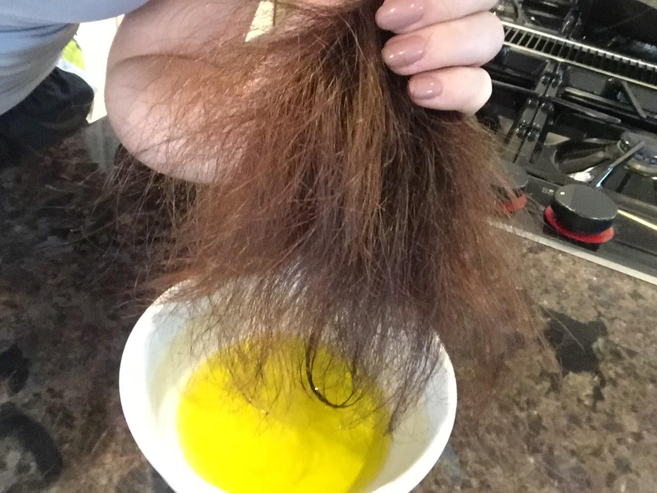 Olive Oil mask for dry hair