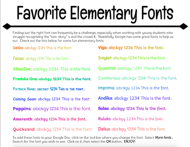 pps tech integration and training google docs fonts for early