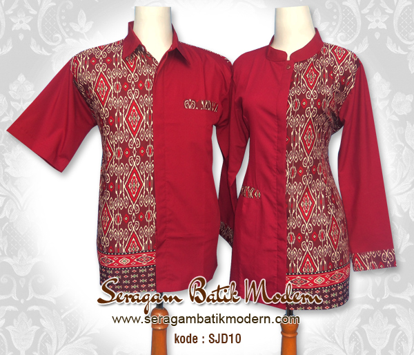 Model Baju Kerja Batik Kombinasi Model Batik 2019