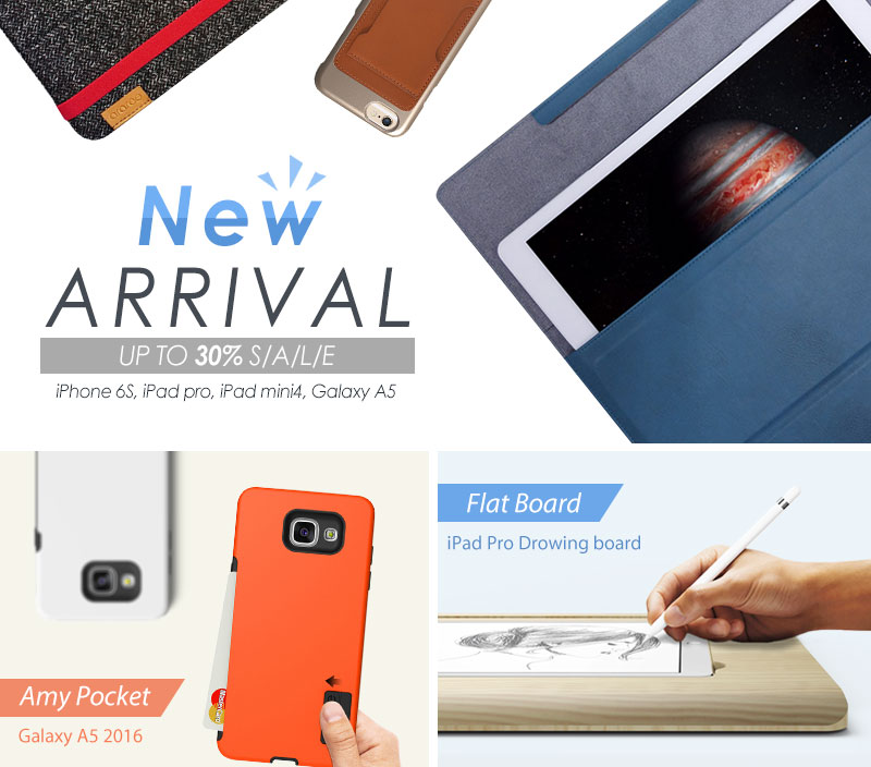 New Arrival up to 30% SALE iPhone 6S,iPad pro, iPad mini4, Galaxy A5 case