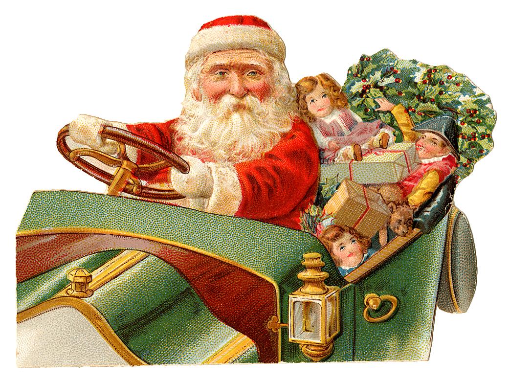 Vintage Santa Clipart 86
