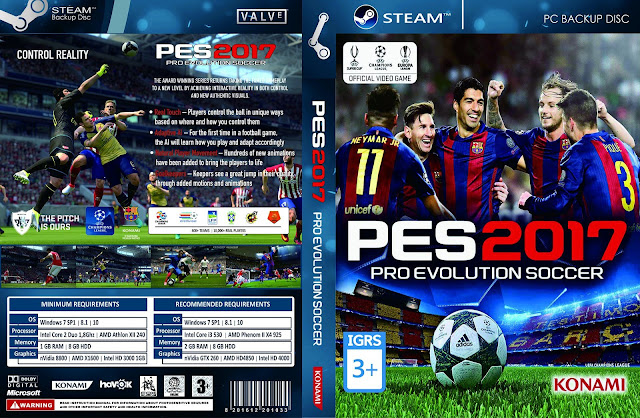 Capa PES 2017 Pro Evolution Soccer PC