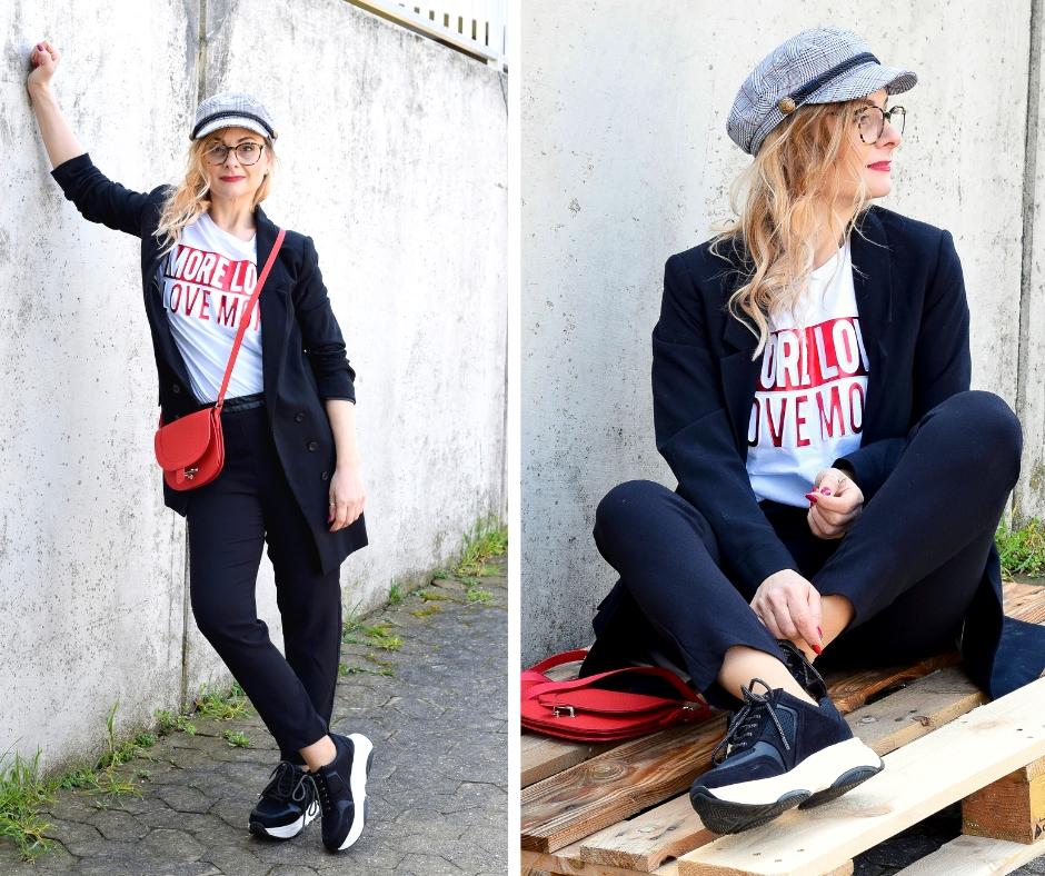Chunky Sneakter zum lässigen Business Anzug für Frauen