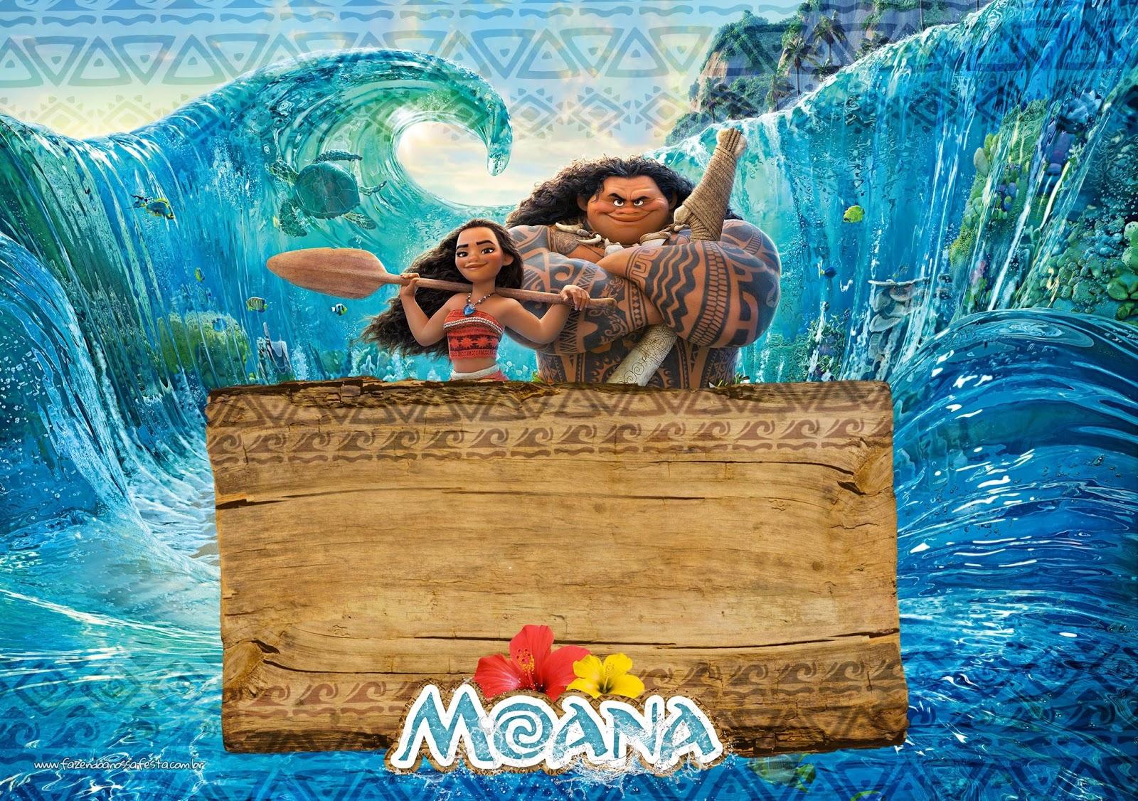 Moana free printable invitations oh my fiesta in english for Printable moana invitations
