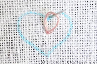 Buttonhole stitch Lesson 3: Filling the shapes