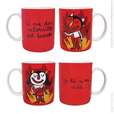tazas con demonios