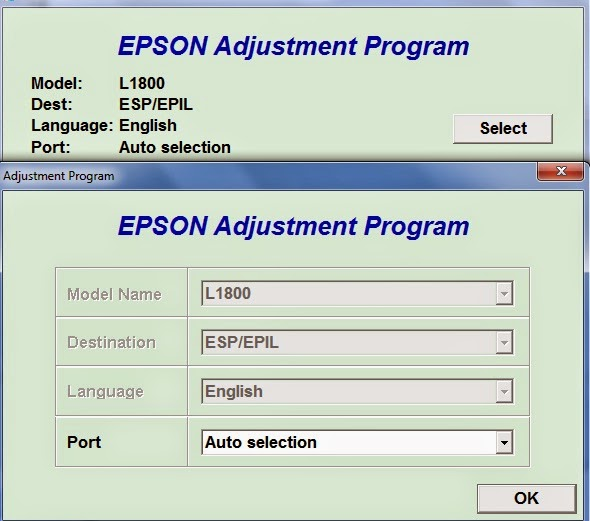 Reset epson free download