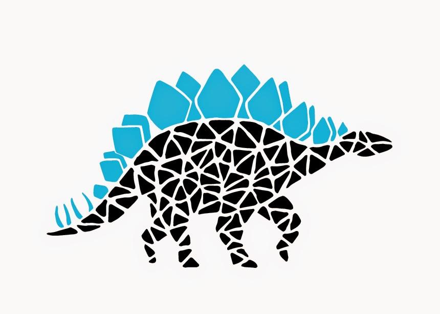 Jen Haugan | Mosaic Dinos | Stegosaurus
